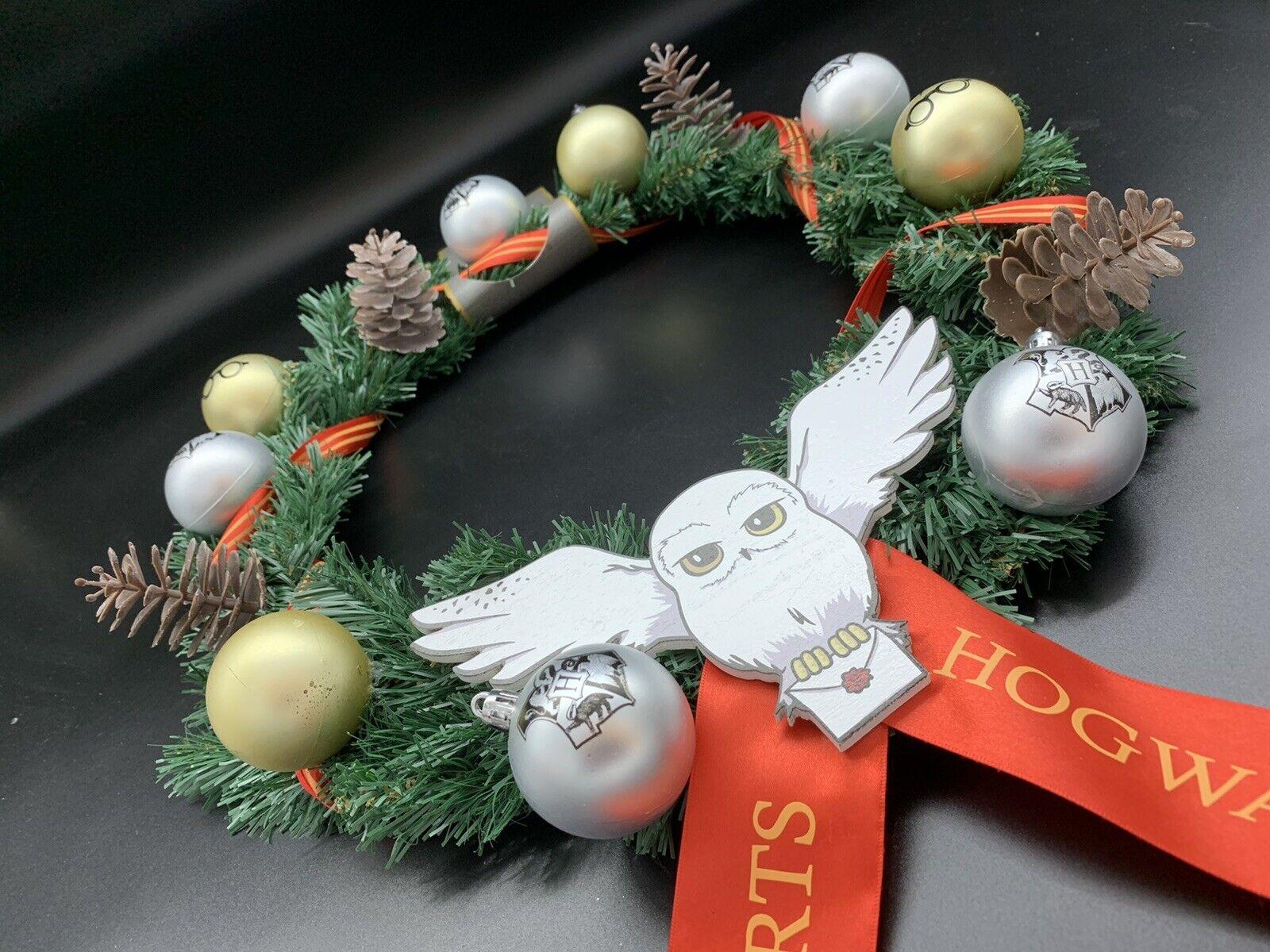Harry Potter Hogwarts Hedwig Dekorations Weihnachtskranz kugel Schmuck Türkranz