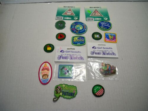 15 Assorted Girl Scout Patchaes New