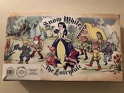 Paul Cardew Snow White and the 7 Dwarfs Rectangular Cookie Tray New in Box