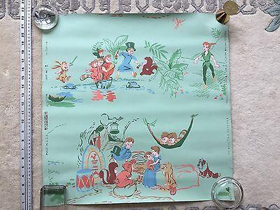 PETER PAN & WENDY 1953 VINTAGE WALLPAPER BY CHILD LIFE, CHARMING DISNEY ARTIFACT