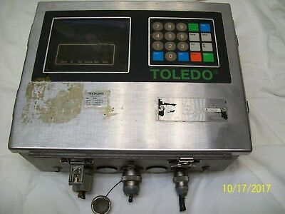 Toledo Stainless Digital Scale Operator Interface  8142-1007