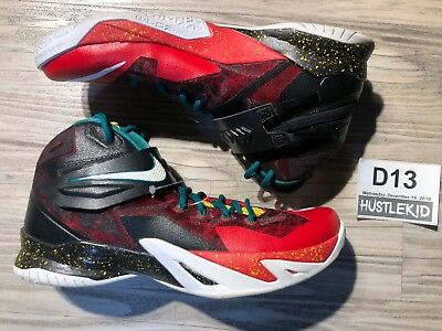 0e0ab912184 2014 Nike Zoom Soldier VIII Size 11 Lebron Christmas Black White Red  688579-016