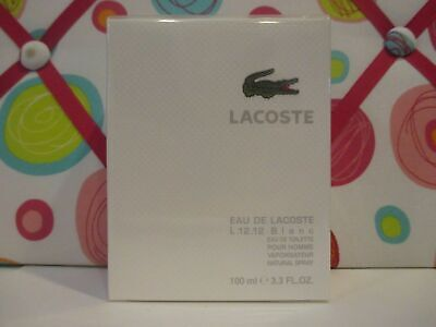 LACOSTE ~ L.12.12 BLANC EAU DE TOILETTE SPRAY ~ 3.3 OZ SEALED BOX