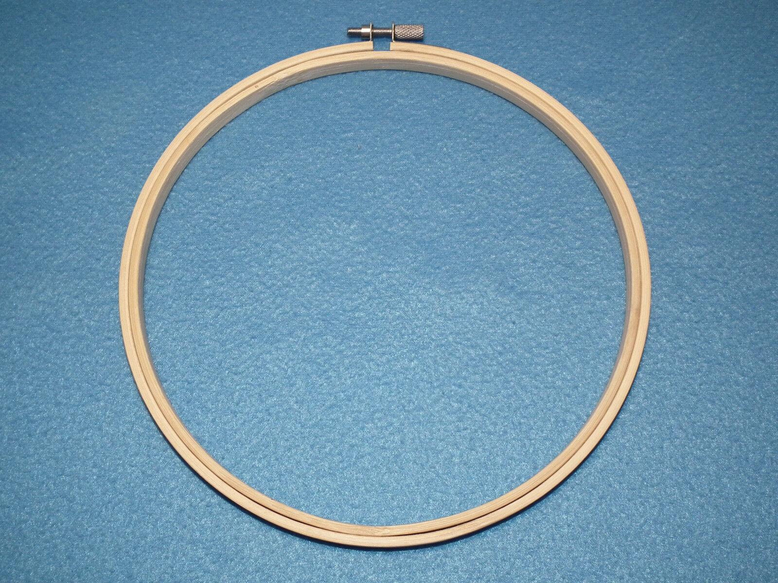 Stickrahmen rund aus Holz Durchmesser 20 cm  Sticken Stickgarn Stellschraube 19