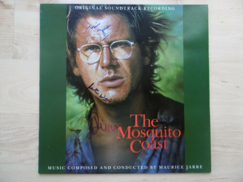 """Maurice Jarre & Peter Weir Autogramme signed LP-Cover """"The Mosquito Coast"""" Vinyl"""