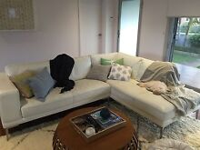 White leather chaise modular lounge East Corrimal Wollongong Area Preview