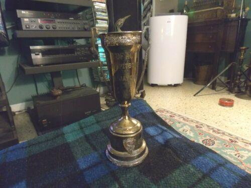 "1959 C-U JAYCEES ROCKFORD IL Brass MAN OF ACTION AWARD Loving Cup Trophy 6"" Rare"
