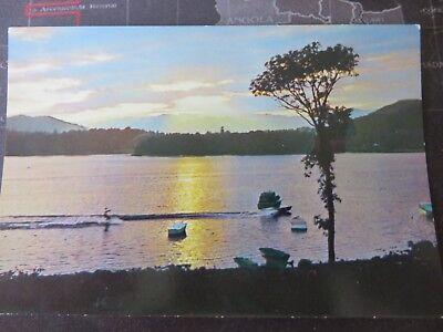 Postcard. Sunset, Lake Windermere, Cumbria. 1980/90s