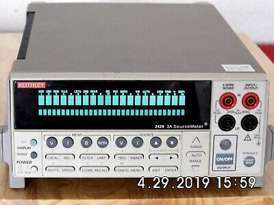 Keithley 2420 High Current Sourcemeter 60vdc 3a 60w Nist Wdata 419 90 Day Wrnt