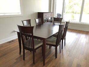DINING TABLE wt BUFFET - BERMEX (Maple & Extendable)
