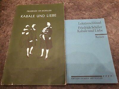 Gebraucht, Kabale und Liebe Schiller mit Lektürenschlüssel  gebraucht kaufen  Versand nach Austria
