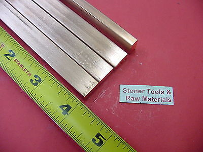 4 Pieces 14x 12 C110 Copper Bar 4 Long Solid Flat .25 Bus Bar Stock H02