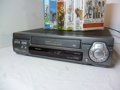 Vintage Aiwa Video VHS Cassette Recorder Player With Carry On Bundle HV-GX850K ()