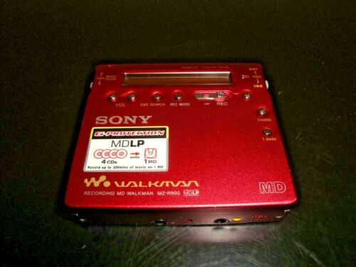 Sony MD Walkman - Portable MiniDisc Player - Red (MZ-R900) & FREE SHIPPING
