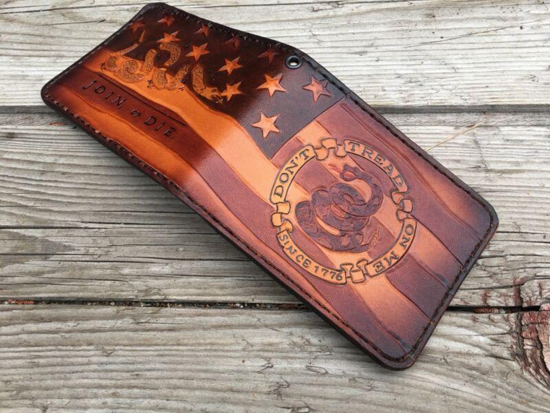 Join Or Die / Don't Tread On Me Patriot Custom Bifold Wallet