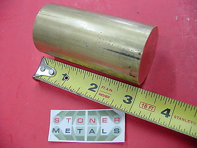 1-12 Brass C360 Solid Round Rod 3 Long Lathe Bar Stock 1.50 Od H02