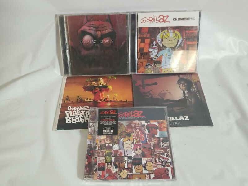 Gorillaz Cd Lot Of 5, D Sides G Sides The Fall Singles Collection Plastic Beach