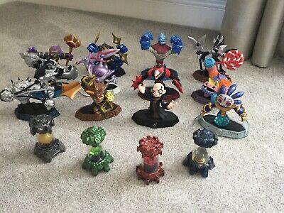 12 Skylanders imaginators figures including Kaos and 4 crystals-immaculate