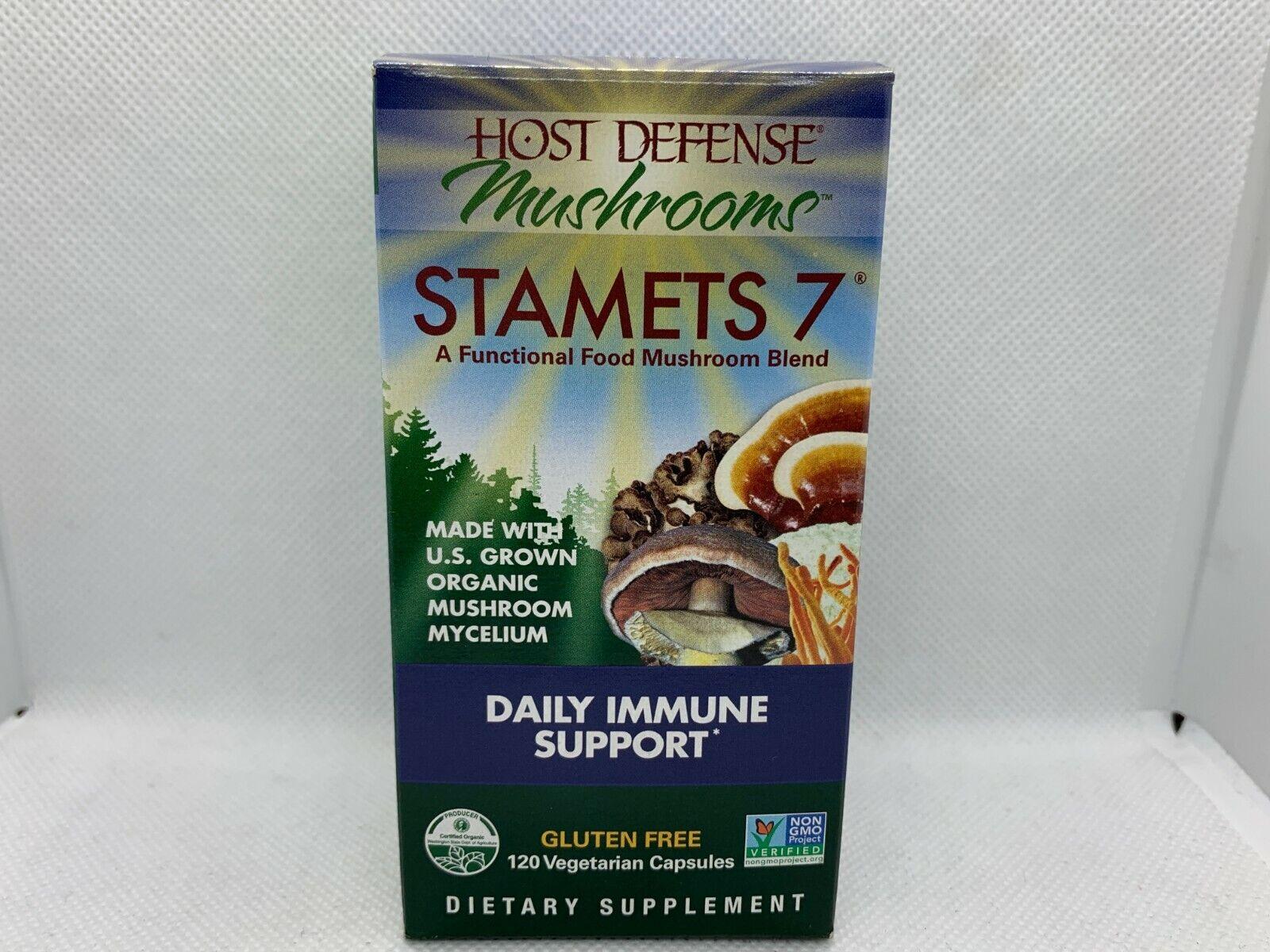 Host Defense Stamets 7 Daily Immune Support 120 Veggie Caps 02/2023