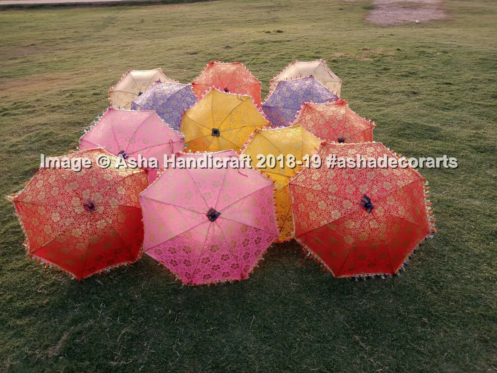 Indian Handmade Wedding Umbrella Sun Shade Parasols Table Pa
