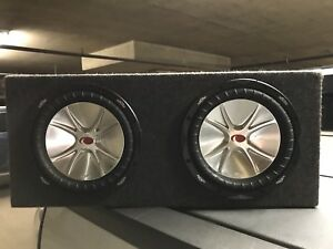 "2 Kicker 10"" CVR Subwoofers in Sealed Box"