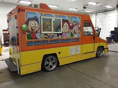 Snowie Like Shaved Ice Truck Bus Confession Trailer