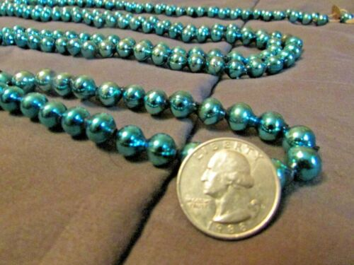 BUY IT NOW! Vintage Electric Blue Mercury Glass Garland Approx. 8ft Long.  Japan