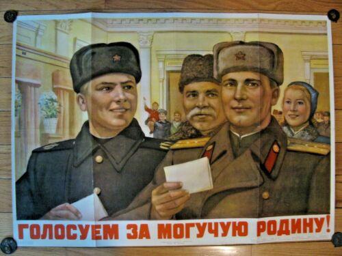 Vintage Soviet Russian Poster, 1951 very rare, 100% Original