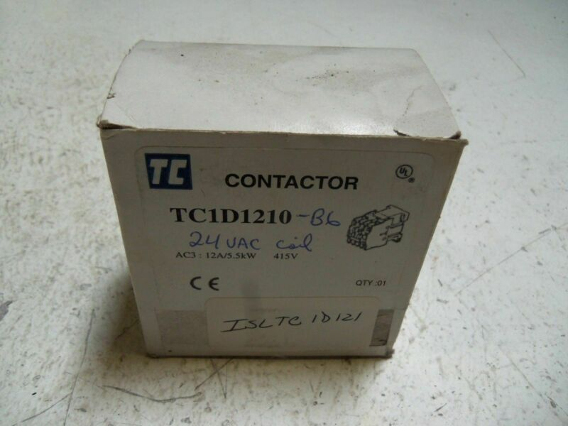 SHAMROCK CONTROLS TC1D1210-B6 CONTACTOR *NEW IN BOX*