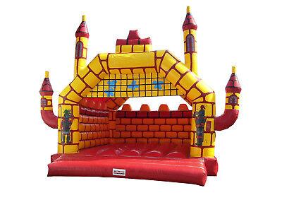 Hüpfburg Ritterburg rot/gelb gebraucht, aufblasbar, Hüpfspaß, Bouncy Castle