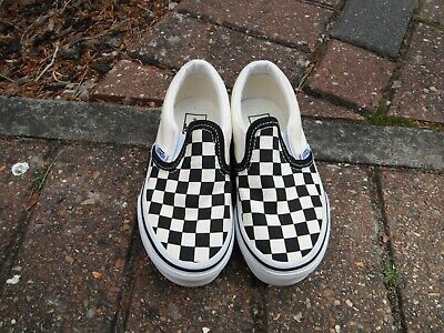 VANS Kids Slip On Checkerboard Trainers Shoes UK Size 10