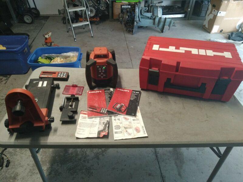 HILTI PR 25 IF self  Rotating Laser with HILTI PRA 25 receiver PRA 71 and case