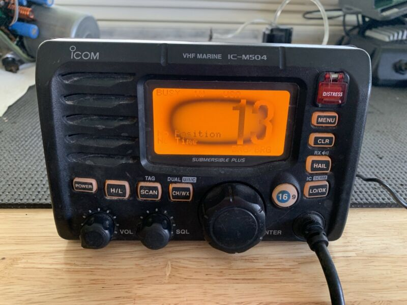 Icom IC-M502 Marine VHF Radio Transceiver USED