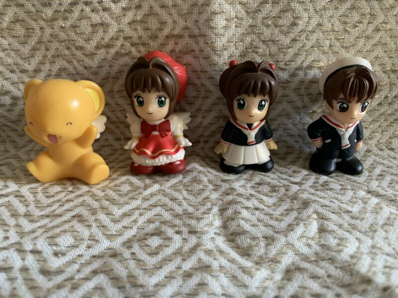 Card Captor Sakura Mascot Figure Doll Lot Of 4