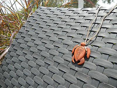 Handcrafted Polynesian Koa Wood Sea Turtle Pendant Necklace Surfing SUP - Koa Sea Turtle
