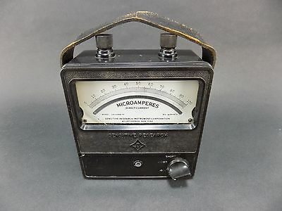 Sensitive Research Instruments Amp Meter Direct Current No. 604471 Untested