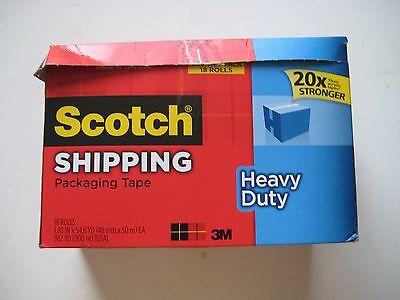 Scotch 3850-18cp Heavy-duty Packaging Tape Cabinet Pack 18 Rolls 1.88 X 54.6yd