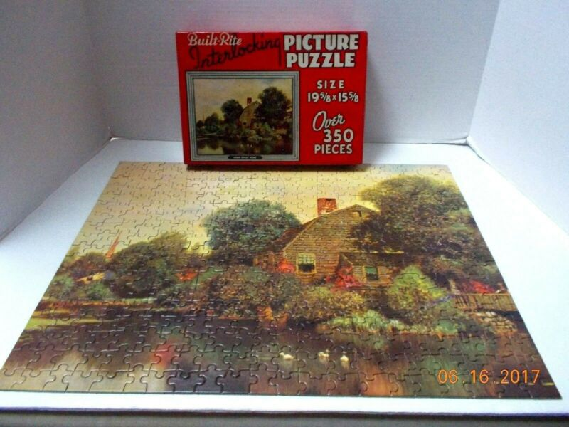"Vintage Built-Rite "" HOME SWEET HOME"" PUZZLE over 350 pcs.19.5"" x15.5"" -Complete"