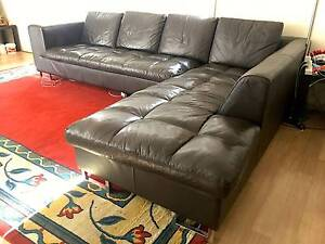 MODULAR COWHIDE FULL LEATHER CORNER LOUNGE Klemzig Port Adelaide Area Preview