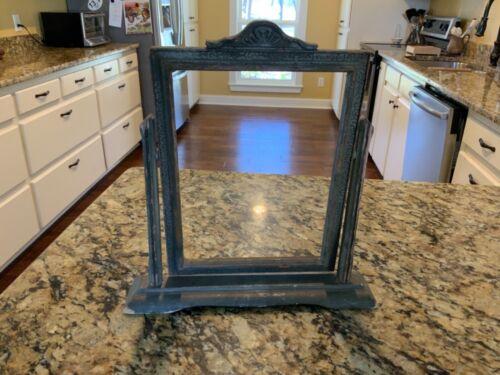 "Antique Vintage Wood Wooden Pivot Swing Swivel Picture Frame 9.5"" x 7"""