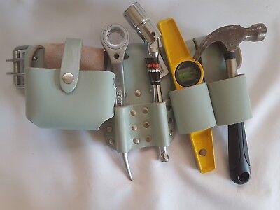 New Scaffold Heavy Duty PURE Leather Work Tool Belt 4 PCS Tools Set Best