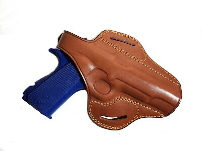 Premium Leather Horizontal Shoulder Holster Fits KIMBER 1911 3/'/' BBL #6110#