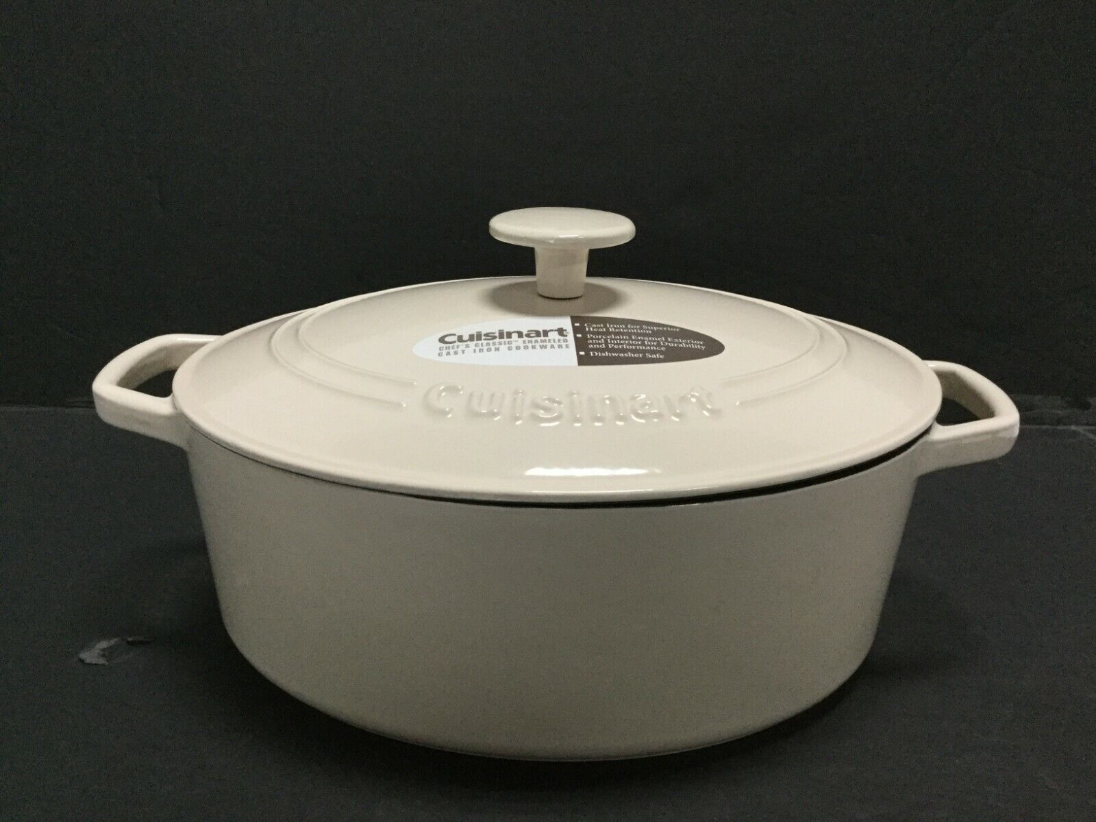 Cuisinart 5.5 Qt. Casserole Cast Iron, Cream