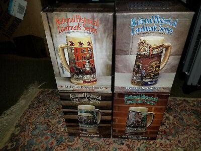 Anheuser Busch National Historical Landmark 4 Stein Set Boxed