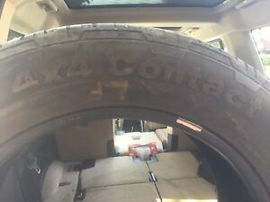 2 Used Continental 4x4 tires.  255/55 R19