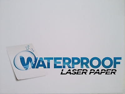 Waterproof Laser Paper 8.5 X 11 5.7 Mil-- 50 Sheets
