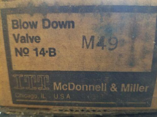 McDonnell & Miller Blow Down Valve 14B 192014