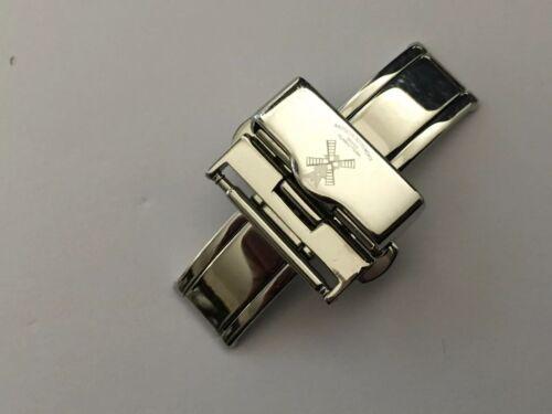 Mühle Glashütte Faltschließe Butterfly Doppelfaltschließe Edelstahl 18mm Armband