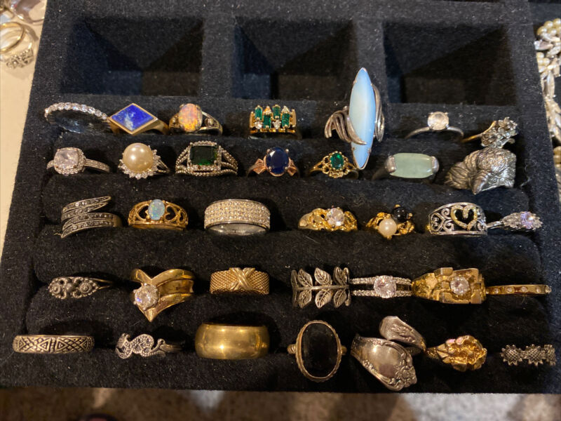 Nice Lots Custom Fashion Jewelry Lots 35 Rings GREAT DEAL 👌