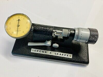 Brown Sharpeno.245 Bench Micrometer Comparator Wcarbide Faces .0001 - Nice